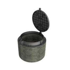 Betongring Dim.600 mm med lätt brunnslock