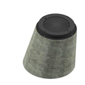 Betongkona Dim.900/600 mm med lätt brunnslock