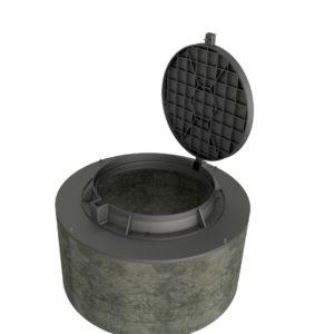 Betongring Dim.1200 mm med lätt brunnslock