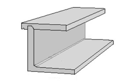 Plattkantsform L-stöd