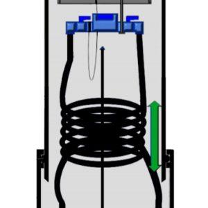 Vattenmätarbrunn 400 Upplyftningsbar vattenmätare.